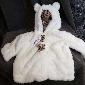 Faux Fur Hooded Jacket Lightweight 12M